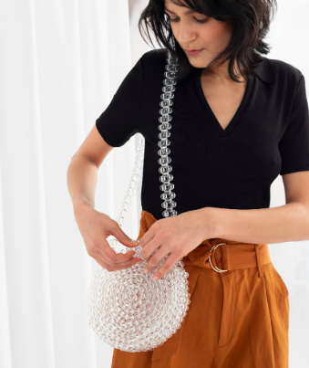 Stories Beaded Circle Bag