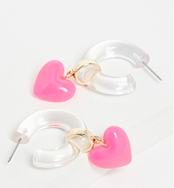 BaubleBar Huggie With Hearts Earrings