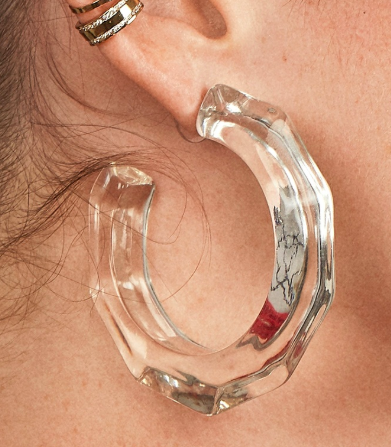 Baublebar HELYN LUCITE HOOP EARRINGS