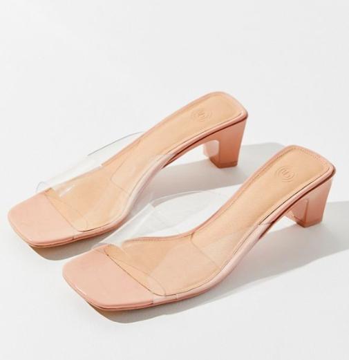 UO Chrissy Clear Mule Sandal