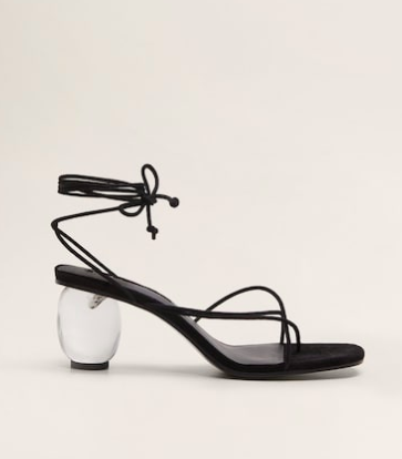 Mango See-through heel sandals