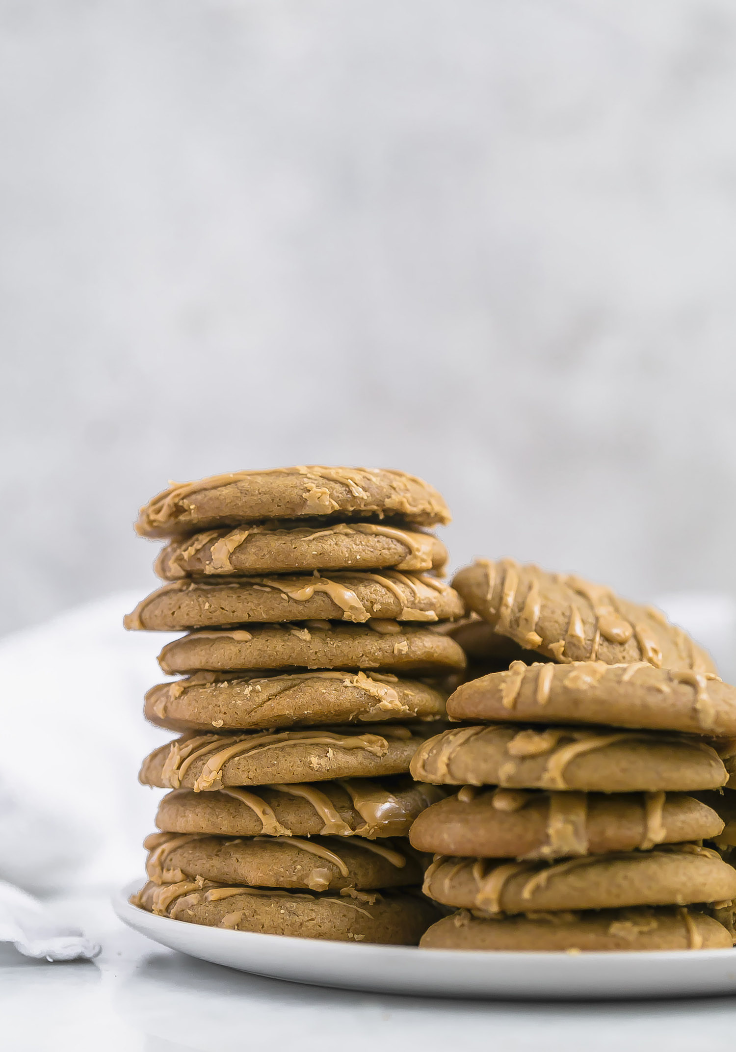 No-Butter Soft Glazed Coffee Cookies: soft, tender, rich, chewy, dairy-free coffee cookies with a glossy coffee glaze.  | TrufflesandTrends.com