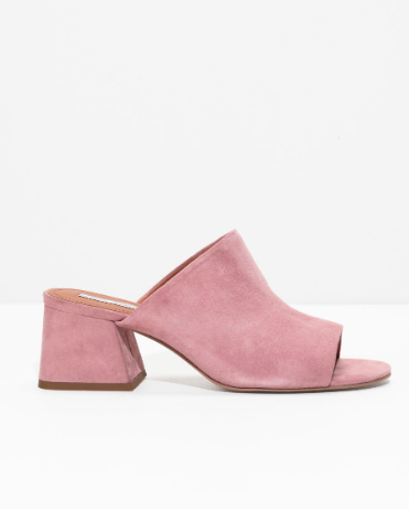 Stories Open Toe Suede Mules