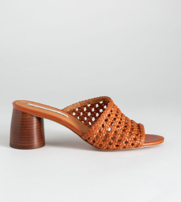 Stories Woven Leather Heeled Sandals