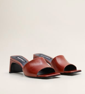 Mango Heel leather sandals