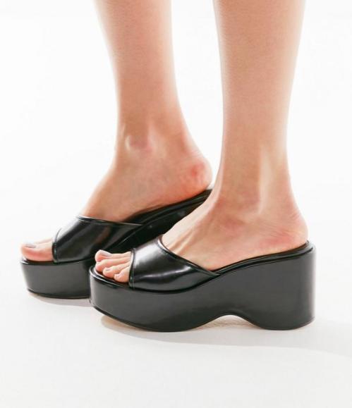 UO Gina Platform Slide Sandal