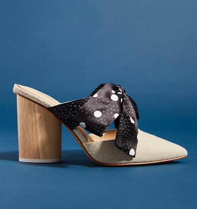 Botkier Hampton Ribbon Bow Mules