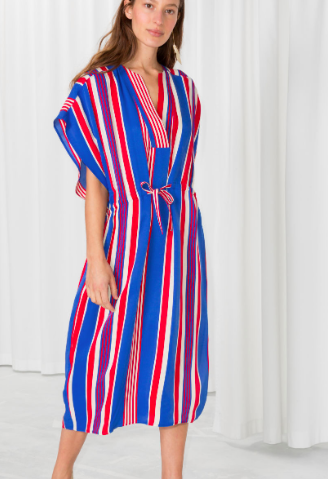 Stories Striped Drawstring Kaftan