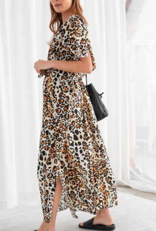 Stories Leopard Print Cotton Kaftan