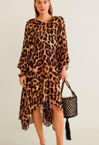 Mango Leopard print kaftan