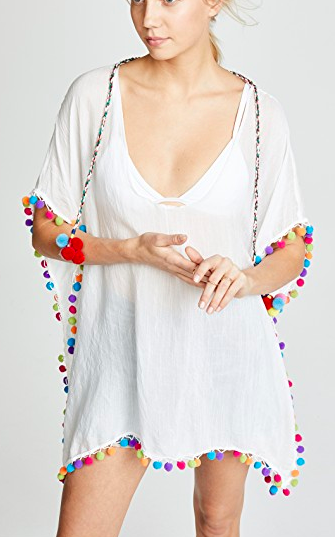 Bindya Caftan with Pom Poms