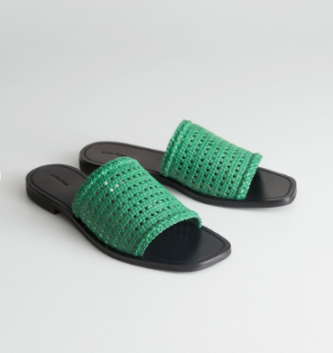 Stories Square Toe Woven Sandals