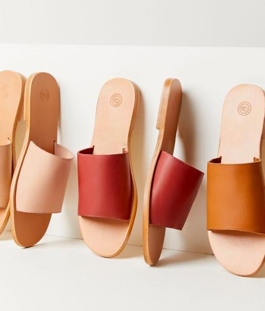 UO Soft Leather Slide Sandal