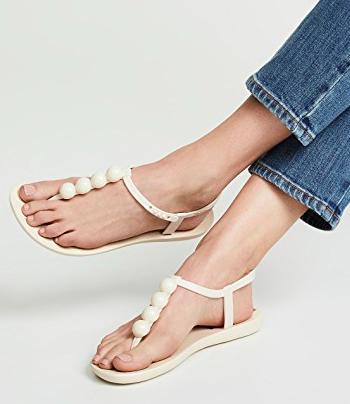 Ipanema Pearl T-Strap Sandals