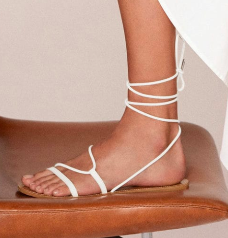 Mango Criss-cross straps sandals