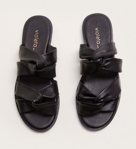 Mango Knots leather sandals