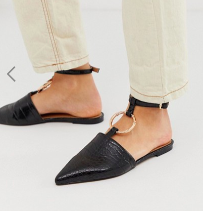 ASOS DESIGN Likeable ballet flats with bamboo ring