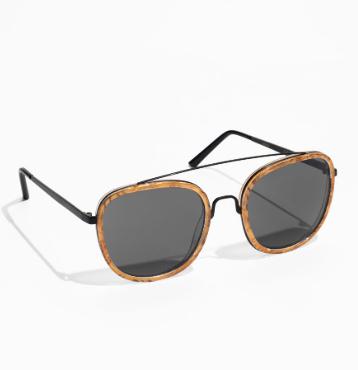 Stories Metal Frame Aviator Sunglasses