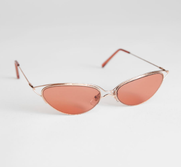 Stories Wire Frame Cat Eye Sunglasses