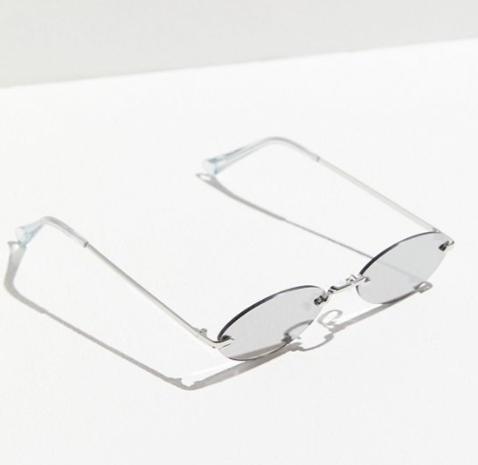 UO Lil' Rimless Slim Oval Sunglasses