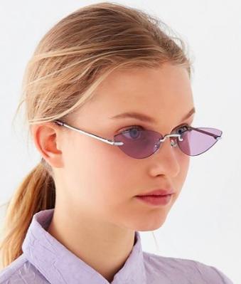 UO Cruz Rimless Cat-Eye Sunglasses