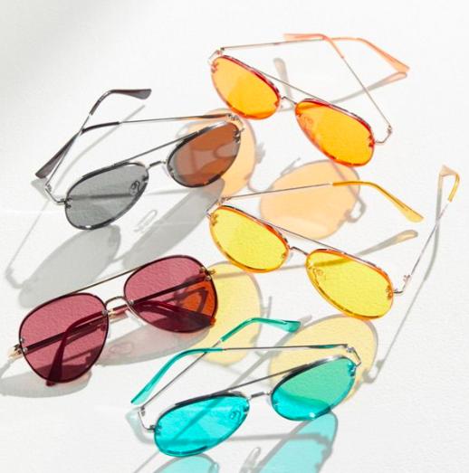 UO Presley Rimless Aviator Sunglasses