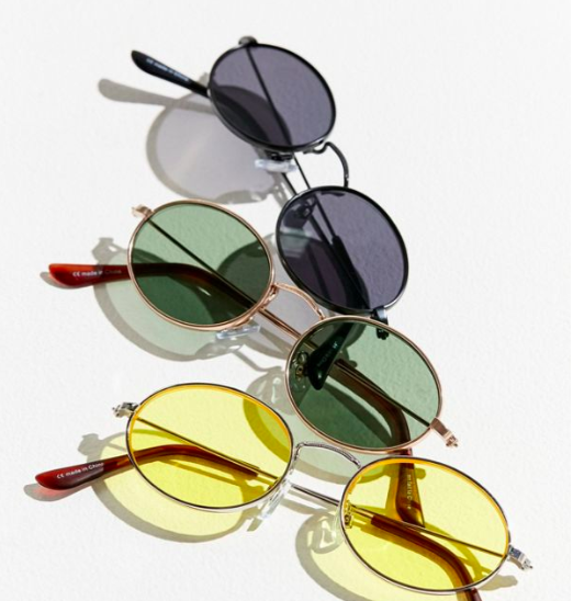 UO Oval Metal Sunglasses