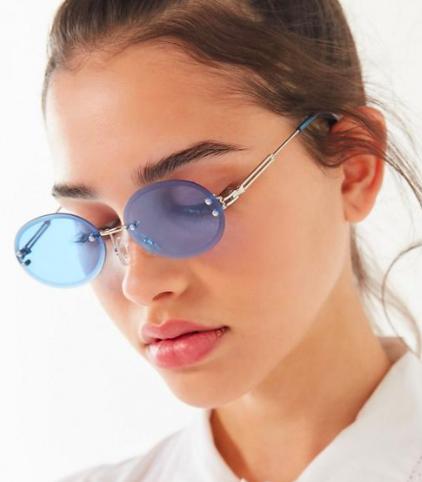 UO Odessa Rimless Oval Sunglasses