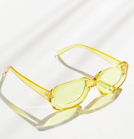 UO Gazzy Rectangle Sunglasses