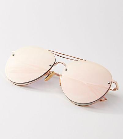 I-Sea Stay Golden Aviator Sunglasses