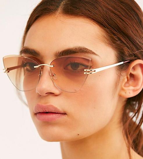 FP Alluring Rimless Cat Eye Sunglasses