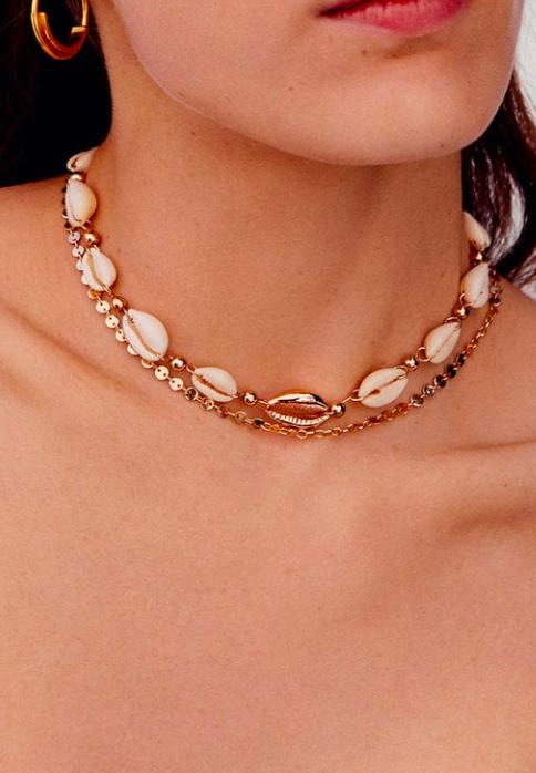 Mango Shells bead necklace