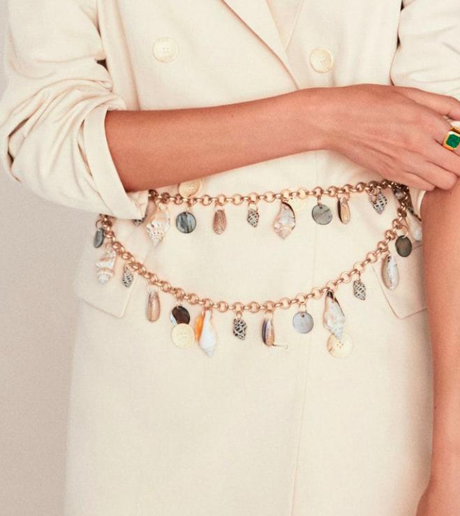 Mango Chain seashell belt
