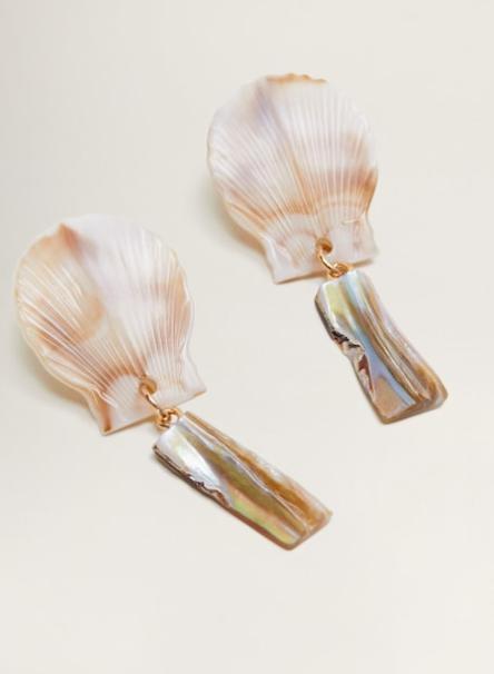 Mango Shell pendant earrings