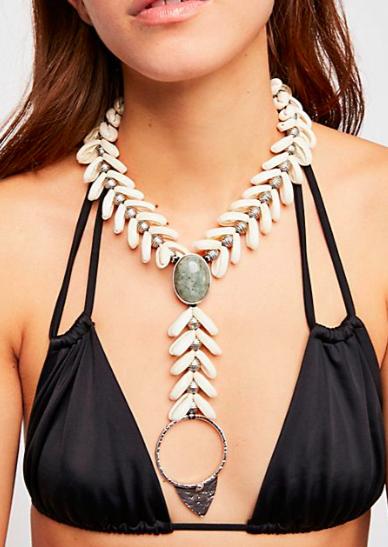 Ouroboros Siren Shell Necklace