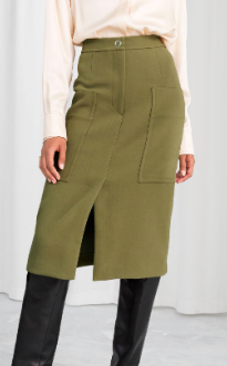 Stories High Waisted Workwear Skirt