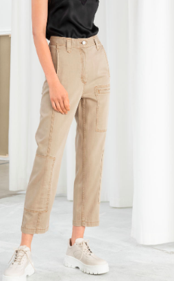 Stories Cotton Blend Workwear Pants