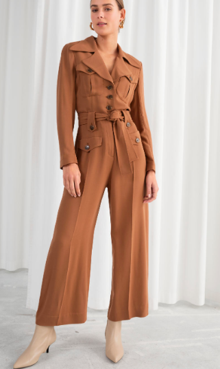 STORIES Belted Workwear Jumpsuit