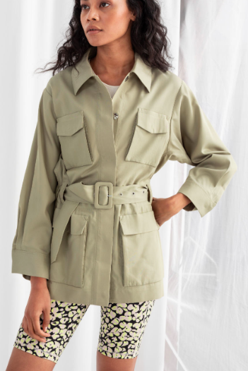 STORIES Oversized Belted Workwear Jacket