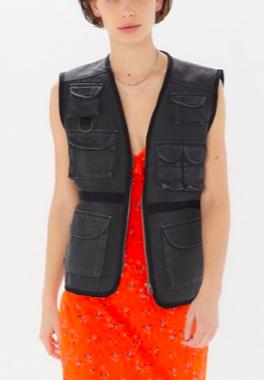 UO Clyde Zip-Front Utility Vest