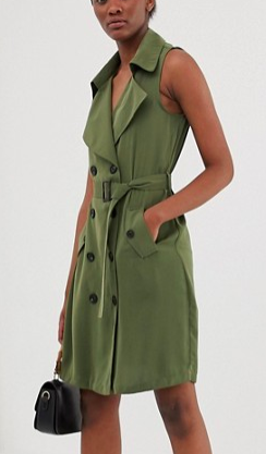 Vero Moda double breasted utility blazer dress