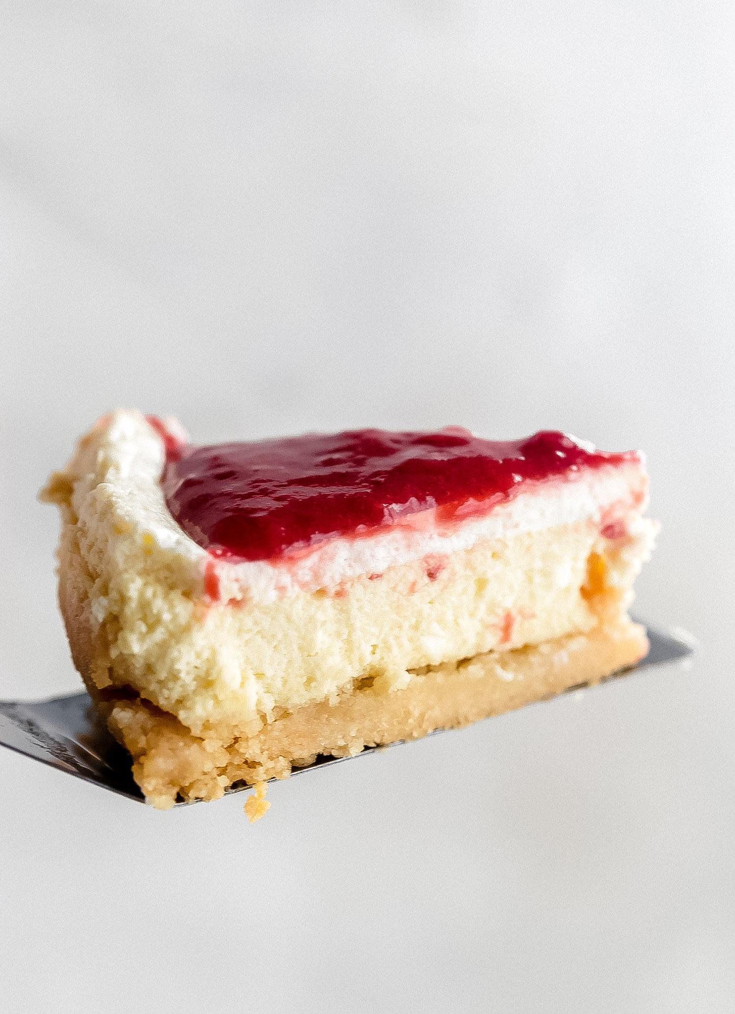 Amazing Basic Gluten-Free Cheesecake: this vanilla cheesecake is creamy, rich yet light, perfectly sweet and tart, with a hint of lemon and addictive gluten-free crust. | TrufflesandTrends.com
