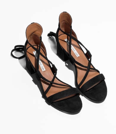 Stories Lace Up Heeled Sandals
