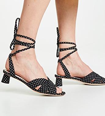 Loeffler Randall Leia Ankle Wrap Low Sandals