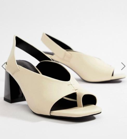 ASOS DESIGN Howdy toe loop block heeled sandal