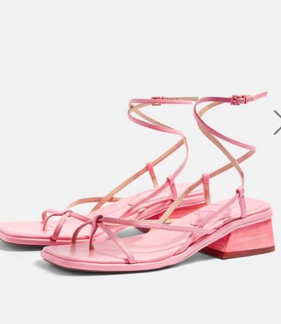 Topshop NOVA Pink Strappy Sandals