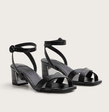 Mango Strappy heeled sandals