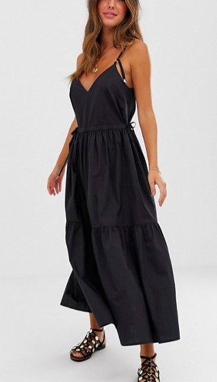 ASOS DESIGN tiered cami maxi dress