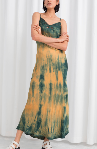 Stories Tie Dye Midi Slip Dress