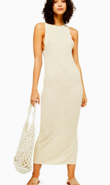 Topshop Knitted Natural Yarn Dress